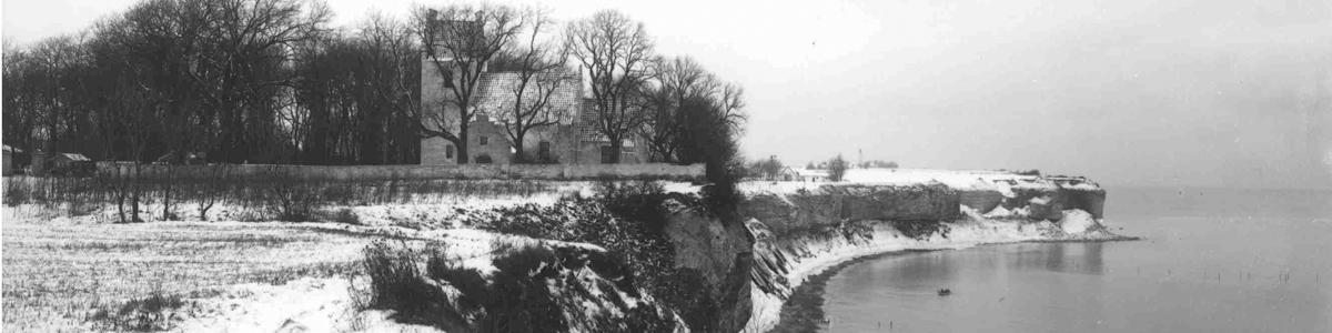 Højerup Kirke før skred i 1928