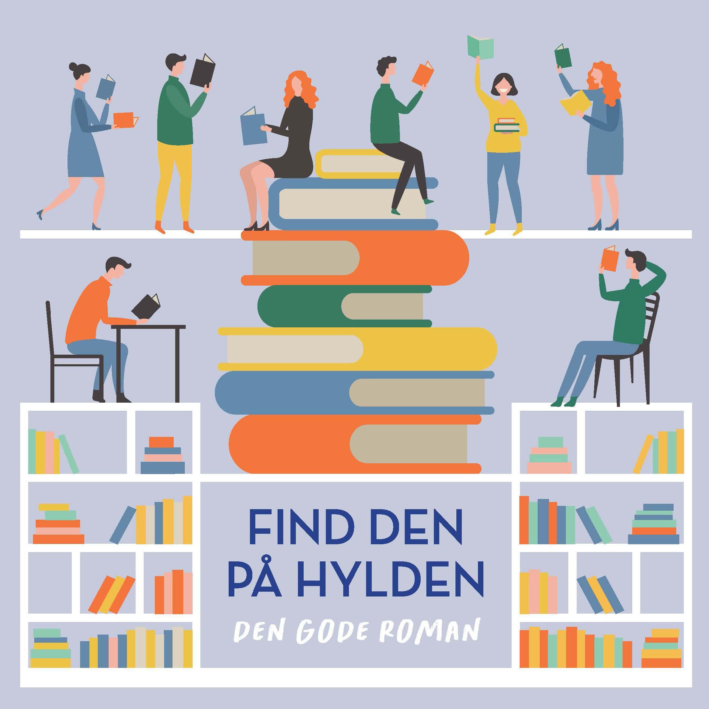 Link til folderen 'Find den på hylden - den gode roman'