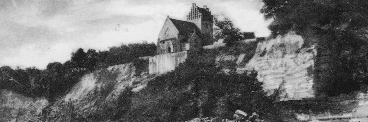 Højerup Kirke efter skred